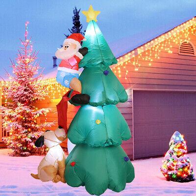 Giant Christmas Tree (6Ft Giant Inflatable Animated Santa Claus Big Blow up Christmas Tree & Dog)