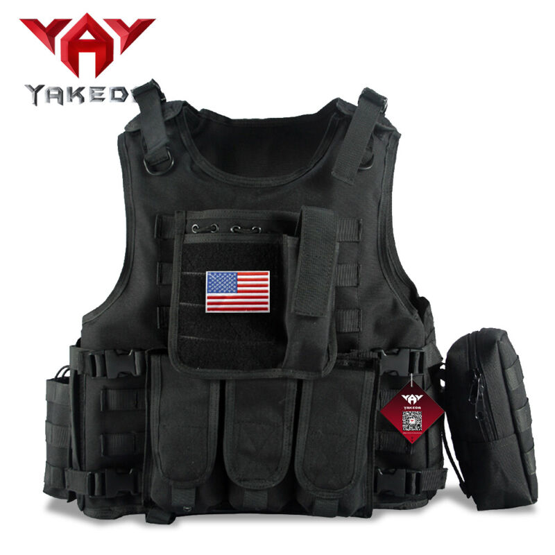 Yakeda Tactical Vest Armor Carrier Combat Airsoft Paintball Jacket with Pouches