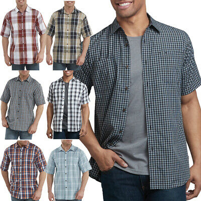 Dickies Shirts Mens Short Sleeve Plaid Icon Relaxed Fit Yarn Dyed Shirt WS525 Yarn Dyed Plaid Shirt