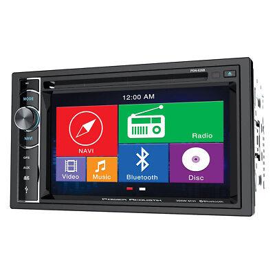 POWER ACOUSTIK PDN-626B Double Din AM/FM/DVD/BT 6.2 with Navigation