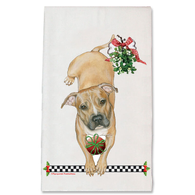 Pit Bull Kitchen Christmas Kitchen Towel Holiday Pet Gifts
