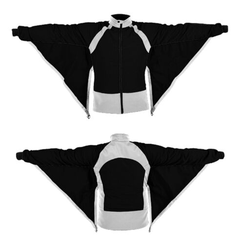 Skydiving Camera Jacket Black and White Bat look