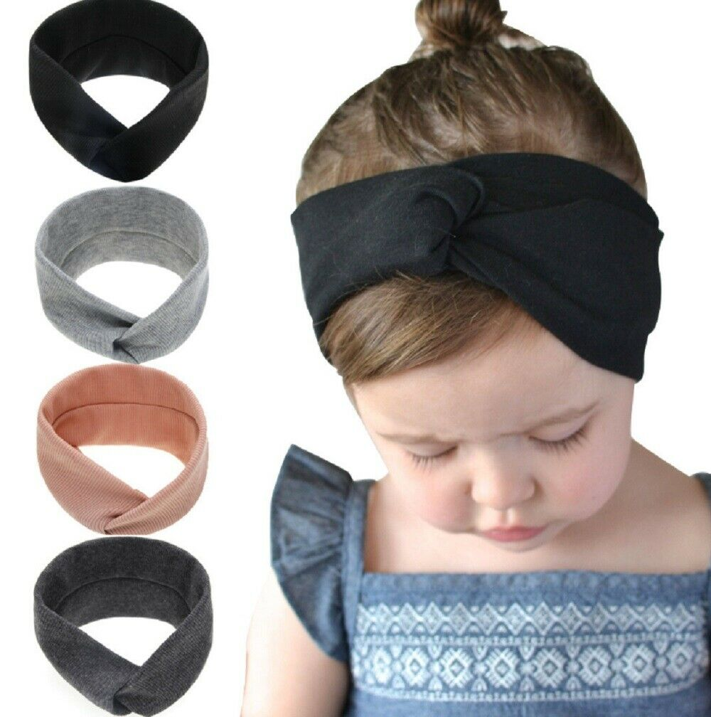 4 Pack Kid Girl Baby Headband Toddler Lace Bow Hair Band Accessories Headwear US Baby