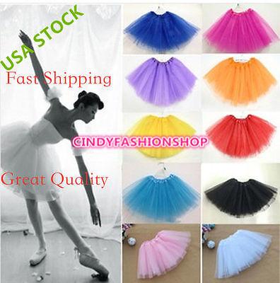 Women/Adult Teen 3 Layer Tulle TUTU Skirt Organza  Pettiskirt Ballet Dancewear  (Pettiskirt Adult)