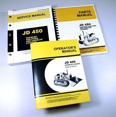Service Manual Set For John Deere 450 Crawler Loader Tractor Operators Parts