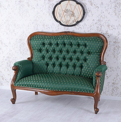 Chippendale Sofa Salon Sofa Mahogany Couch Antique Bench Vintage