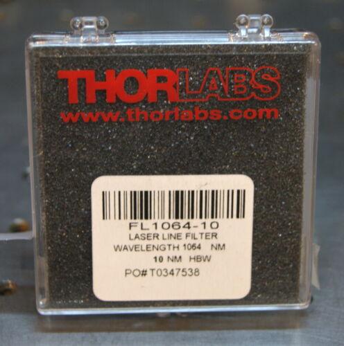 "Thorlabs laser line filter FL1064-10 , FWHM = 10nm 1"" dia."