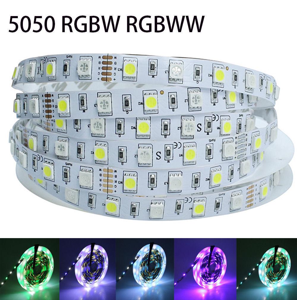 5M RGBW RGBWW LED Strip Light Ribbon SMD 5050 12V RGB+Warm W