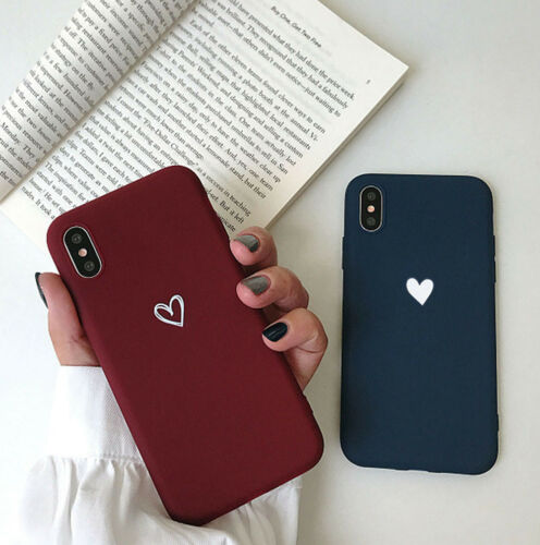 Cute Case For iPhone 6s 7 8 Plus XR XS Max Shockproof TPU Slim Cover Love Heart