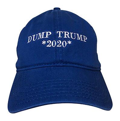 Anti Donald Trump Dump Trump *2020* Hat Low Profile Unstructured Cap Custom Lids ()