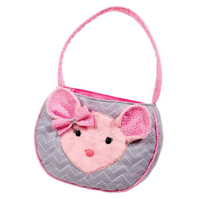 DOUGLAS Cuddle Toys Madeline Pink/Gray Mouse Tote - 1105 NEW