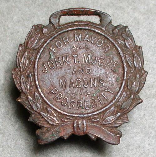 Copper Watch Fob/John T. Moore, Mayor of Macon Ga. 1910/Found Fredericksburg VA