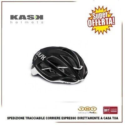 Casco Bicicleta MTB Carretera Carreras Ciclismo KASK Proton Tamaño M Black White