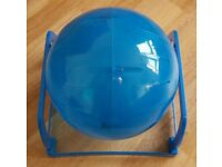 Large hamster and small furry animals exercise ball with stand - as good as new!