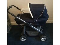 Excellent Condition Navy and White SilverCross Pram £200 Ono