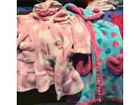 2 girls dressing gowns 18- 24 months