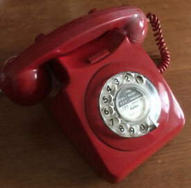 Vintage Telephone BT 8746 Dial Series 1967 -1979 - Colour Red