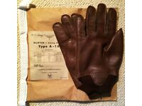 GENUINE EASTMAN LEATHER A10 USAAF WW2 FLYING GLOVES XL 11 PILOT WORLD WAR TWO WWII RAF MOTORBIKE