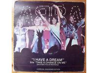 "ABBA: I HAVE A DREAM: 7""; stereo single record/vinyl, 45 gatefold cover. Special souvenir edition"