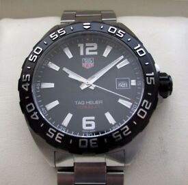 Tag Heuer F1 Formula 1 Gents Watch Black WAZ1110 **Buy Online**