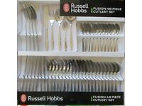 Russell Hobbs 48 Piece Fusion Cutlery Set Dinnerware Kitchen Homeware Stainless brand new
