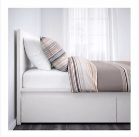 Ikea malm bed with 4 underbed storage draws