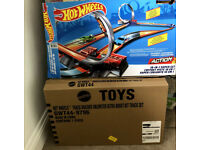 two hotwheels kits - lots of track and 4 speed boosters