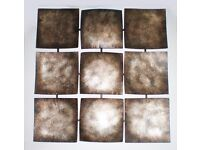 LARGE METAL ABSTRACT wall art picture - Metal hammer finish