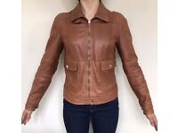 Massimo Dutti 100% Leather Jacket; Size:8 (EUR S)