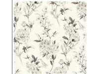 Zinc Jolie Floral Flowers White