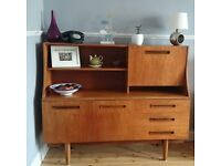 GPlan Style Sideboard with cupboard, drawers and drinks cabinet