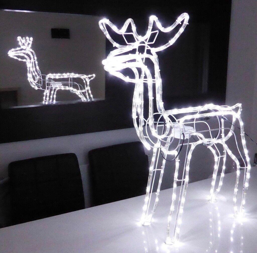 Inoutdoor christmas led reindeer xmas deer silhouette moving head inoutdoor christmas led reindeer xmas deer silhouette moving head 27 twinkling lights 87cm mozeypictures Images