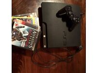 Playstation 3, wires included and 1 controller. Excellent condition. Games included.
