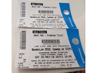 Steps gold circle tickets