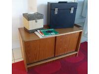 Vintage Teak 60's / 70's Record Vinyl LP Cabinet Danish G Plan Storage Rare