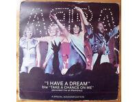 "ABBAABBA I HAVE A DREAM: 7"" stereo single record/vinyl, 45 gatefold cover. Special souvenir edition"