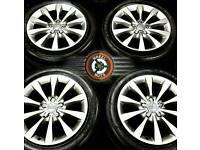 "17"" Genuine Audi alloys, 10 spoke, refurb Gunmetal Grey, 4 excellent matching tyres."