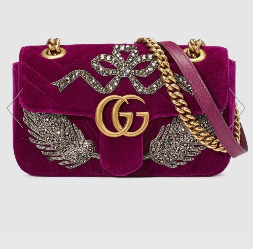 b0f1d5356bf457 Gucci GG Marmont Bag velvet Embroidery | in Willesden, London ...