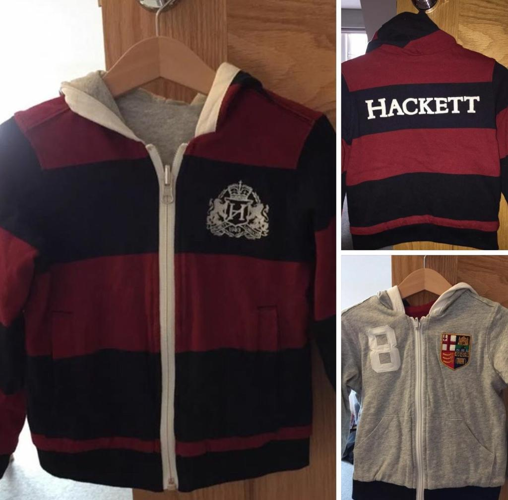 Boys Hackett Reversible Hoodie Jacket 3-4