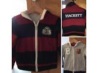 Boys Hackett Reversible Hoodie Jacket 3-4