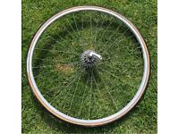 Vintage peugeot racer rear wheel