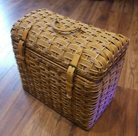 High Quality Domed Top Wicker Basket VGC.
