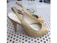 Next Sparkly gold shoes