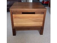 King size bed frame, chest of drawers and bedside units - matching set in solid wood