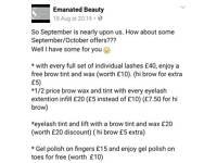 September and october offer