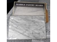 Vintage Unused Marble Pastry Block & Rolling Pin