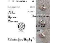 Pandora Feathered Charm Clip