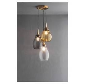 Glass triple drop ceiling pendant light