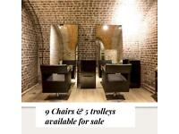 Hairdressing salon styling chairs and units Philippe Starck