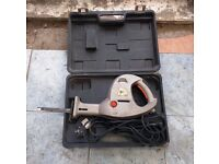 Job lot - Red Metal tool box and faulty reciprocating saw. Both items for £10.